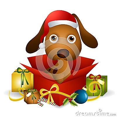 Puppy Christmas Present