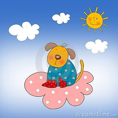 Puppy on the cloud