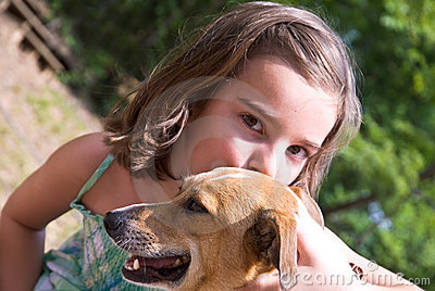 Puppy Love / Girl and Dog