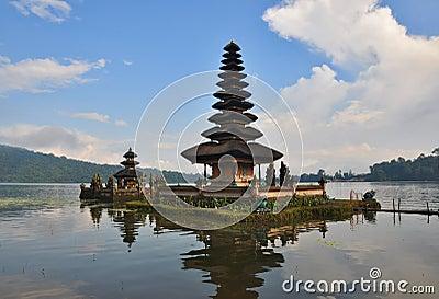 Pura Ulun Danu temple on lake Bratan.