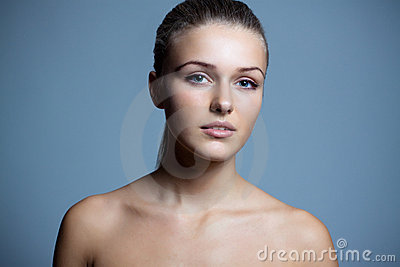 Pure beautiful woman with health skin