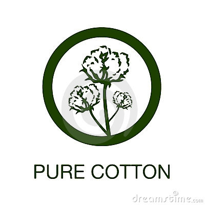 Pure Cotton Manufacturing Symbol Stock Photo - Image: 10485900