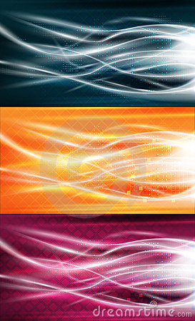 Free Pure Energy Flows Background Set Royalty Free Stock Photos - 18575188