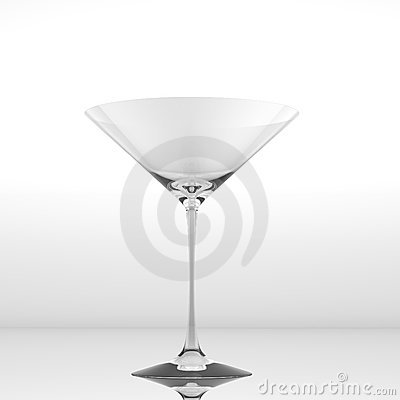 Pure glass for martini