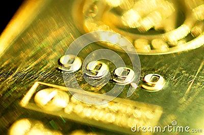 Pure Gold 999,9 bar ingot