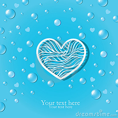 Pure love card with drops