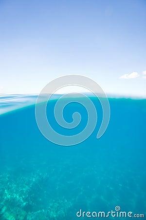 Pure ocean blue
