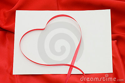 Pure sheet papers on a red fabric