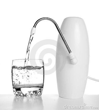 Free Pure Water From The Filter Flows In A Glass Stock Photos - 6670773