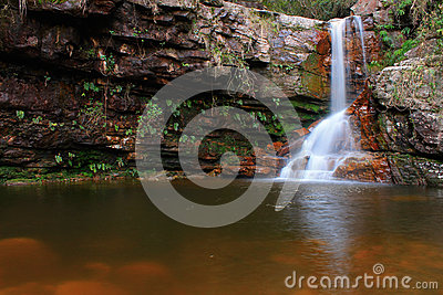 Purification Waterfall in Chapada Diamantina