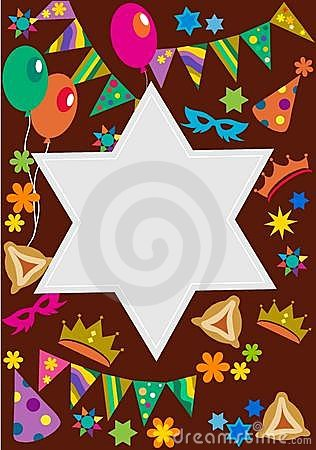 Purim background with davis star