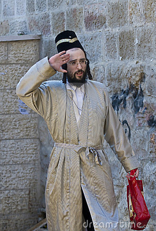 Purim in Mea Shearim Editorial Image