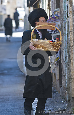 Purim in Mea Shearim Editorial Photo