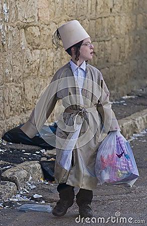 Purim in Mea Shearim Editorial Photography