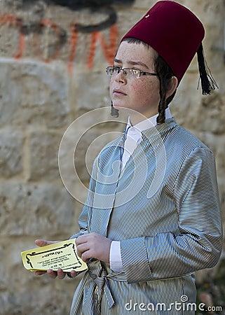 Purim in Mea Shearim Editorial Photo