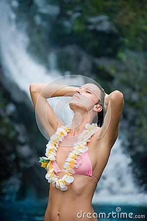 Purity woman waterfall lei