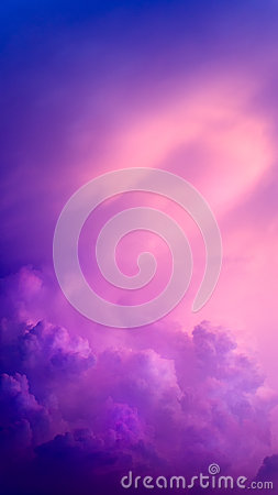 Purple Abstract Cloud and Sky