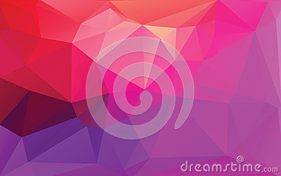 Purple Abstract Low Poly Vector Background