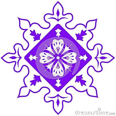 Purple abstract pattern. Vector illustration