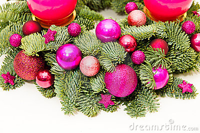 Purple advent wreath