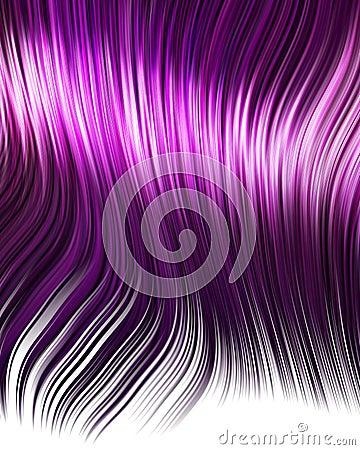 Purple anime hair