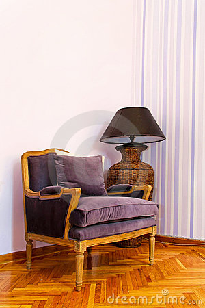 Purple armchair 2