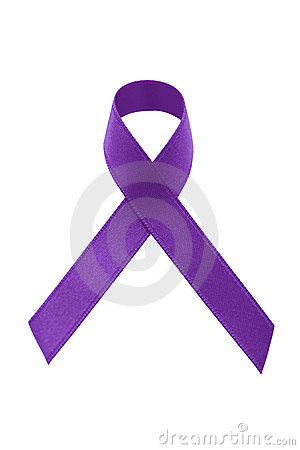 A purple awareness ribbon