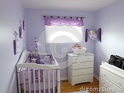 Purple Babies Room