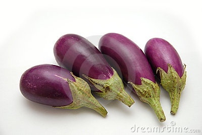 Purple Baby Eggplants