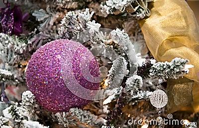 Purple Ball Christmas Tree Ornament