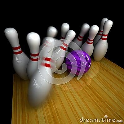 Purple ball does strike!