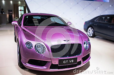 A purple Bentley car Editorial Photography