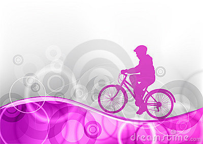 Purple bicycle Vector Illustration