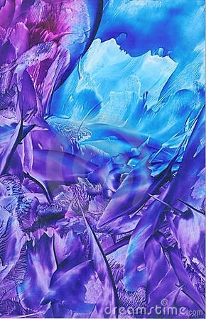Purple & Blue Abstract