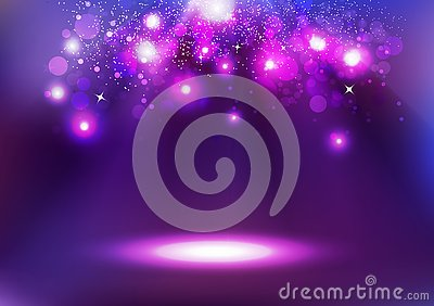 Purple Bokeh, glowing celebration, abstract background vector il Vector Illustration
