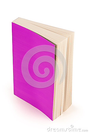 Purple book cover with clipping path