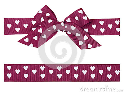 Purple bow and ribbon