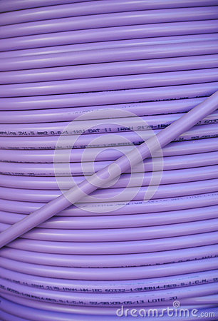 Purple cable coil