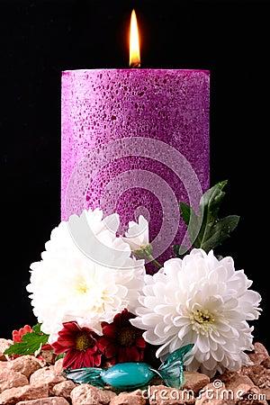 The purple candel