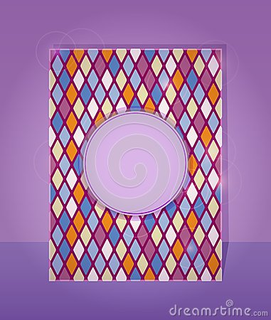 Purple Card in Rhombus Pattern