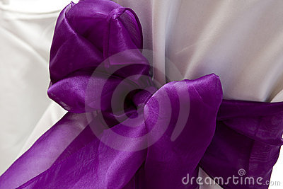 Purple Chair Wedding Bow
