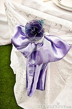 Purple Chair Wedding Bow