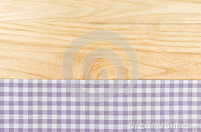Purple checkered table cloth