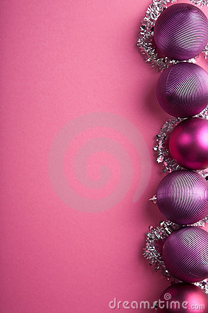 Purple christmas balls border