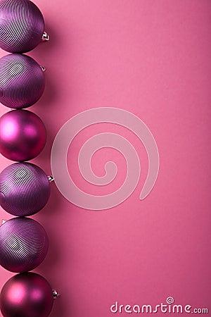 Purple christmas balls border