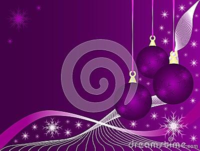 Purple Christmas Baubles