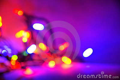 Purple Christmas light background