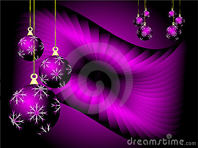 Purple Christmas Vector Background