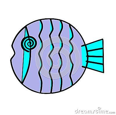 Free Purple Circular Fish Royalty Free Stock Photography - 41314617