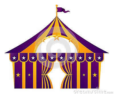 Purple circus tent